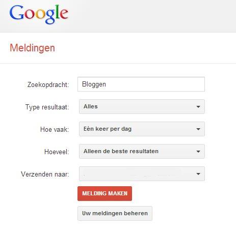 Een Google Alert instellen