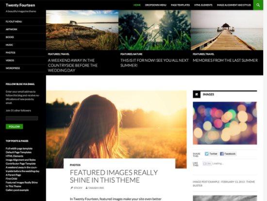 WordPress Tweny Fourteen theme