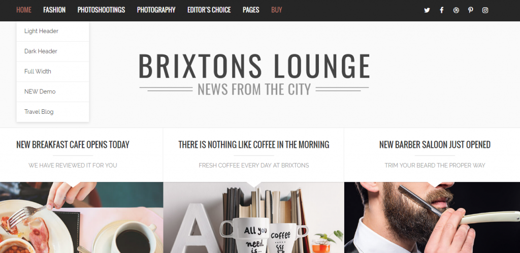 Brixton WordPress theme