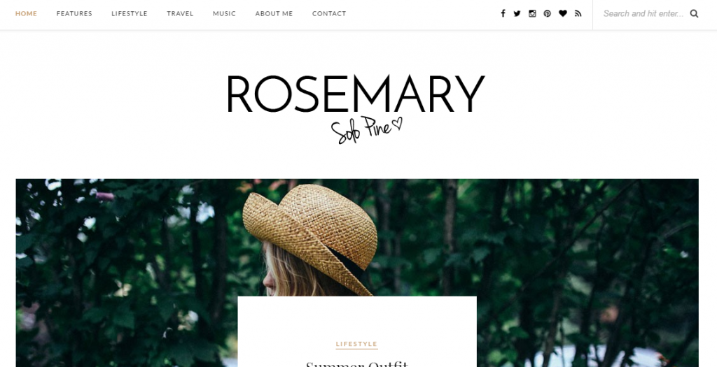 Rosemery WordPress theme