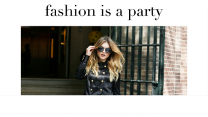 Fashion is a party